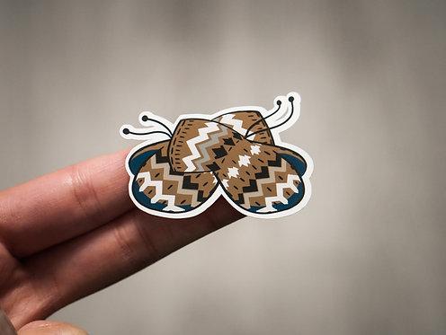 Bernie's Mittens Glossy Sticker