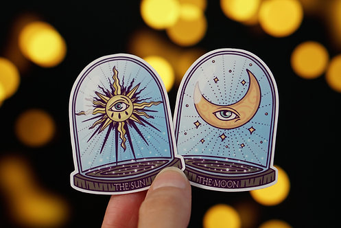 The Sun & The Moon | Glossy Stickers