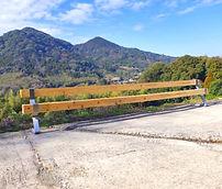 立花山を望む高台