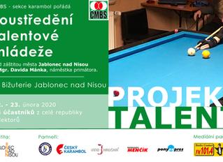 Projekt Talent - soustředění talentové mládeže - 22. - 23. 2. 2020
