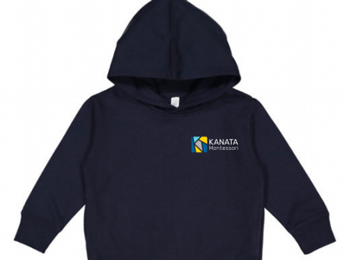 Toddler Hoodie Navy Blue Embroidered