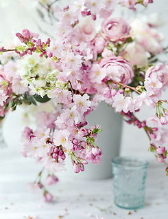 Cherry Blossom and Roses