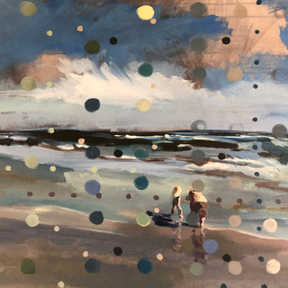 Beach scene from observation (Stevie and Tanner)