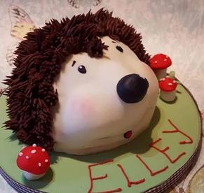 hedgehog 3d structure birthday party celebration cake billingshurst