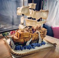 lego pirate ship birthday party celebration cake billingshurst