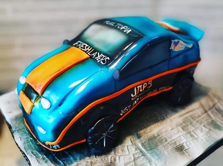 race car birthday party celebration cake billingshurst