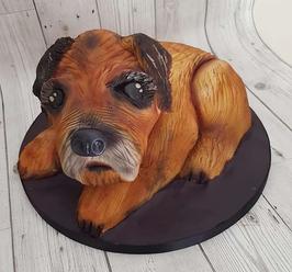dog 3d structure birthday party celebration cake billingshurst