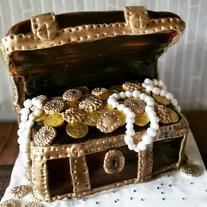 treasure chest birthday party celebration cake billingshurst