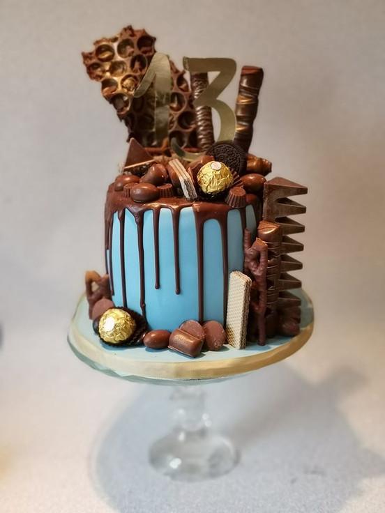 drip birthday party celebration cake billingshurst