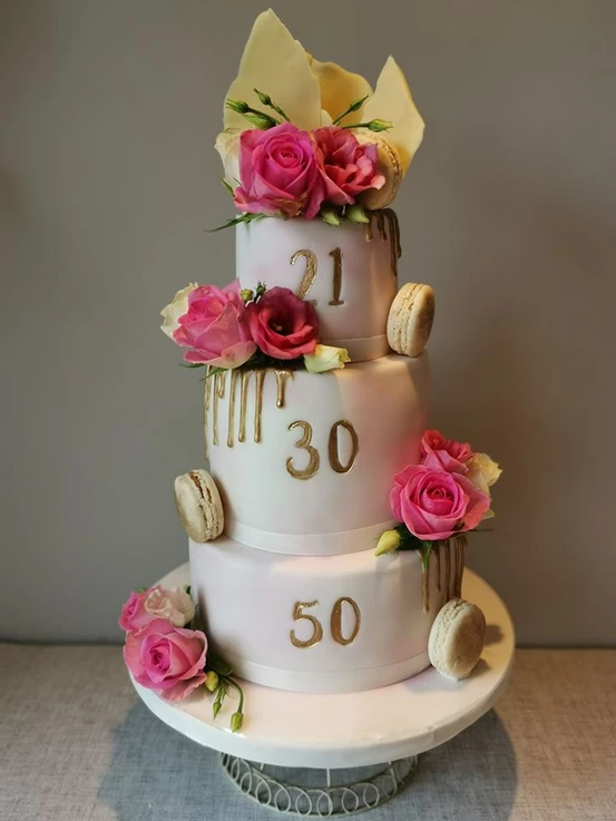 3 tier drip birthday party celebration cake billingshurst