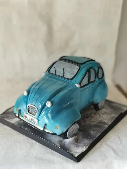 citroen 2cv birthday party celebration cake billingshurst