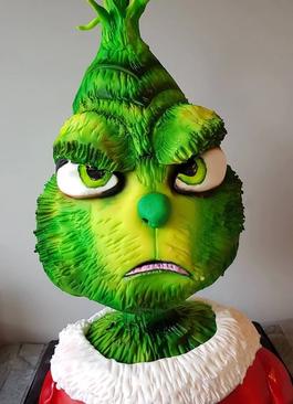 the grinch birthday party celebration cake billingshurst