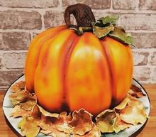pumpkin birthday party celebration cake billingshurst