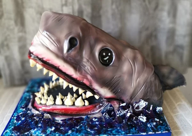 shark birthday party celebration cake billingshurst