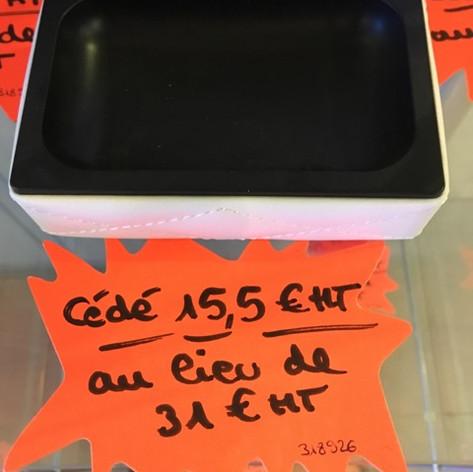 15,5 €ht au lieu de 31€ht