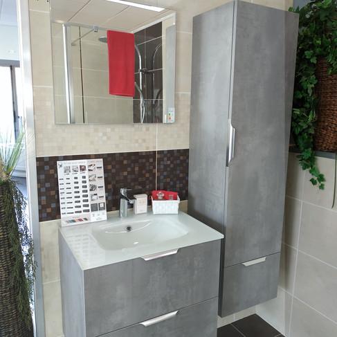 Meuble Unique 60cm avec miroir et colonne - 1020€ttc