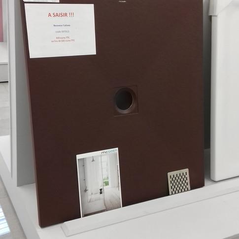 Receveur Coliseo chocolat 100x90cm - 385.2€ TTC