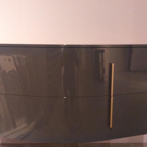Commode SOON 110cm Poignée chromé mat Couleur ardoise brillant - 759€ttc