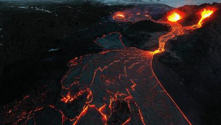 Fly over  Fagradalsfjall Volcano