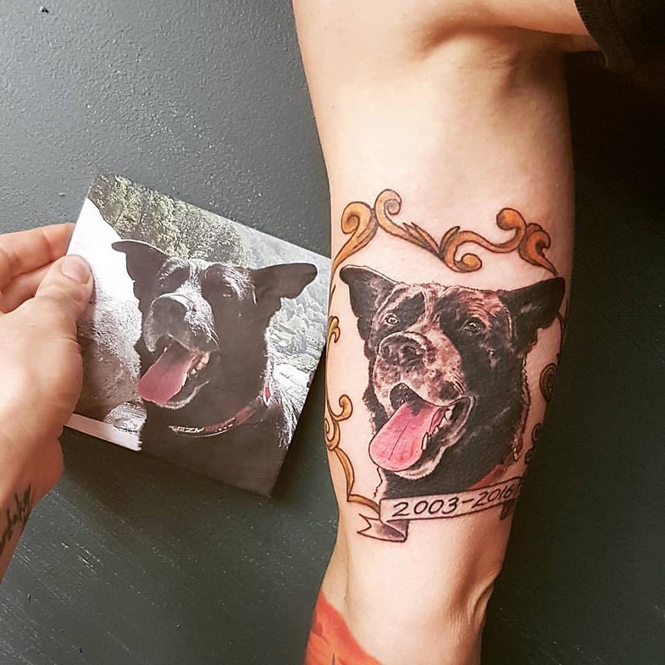 Whistler Tattoo Company | Memorial Pet Portrait Tattoo
