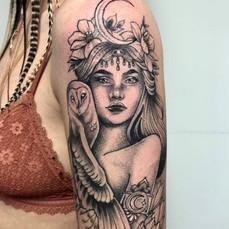 Moon Luna Goddess Tattoo