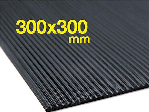 Low profile ribbed sluice matting 300 x 300mm