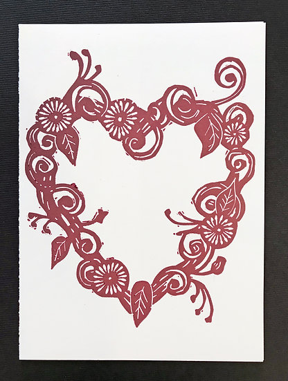 Heart Holiday Card