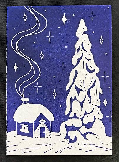 Cabin Holiday Card