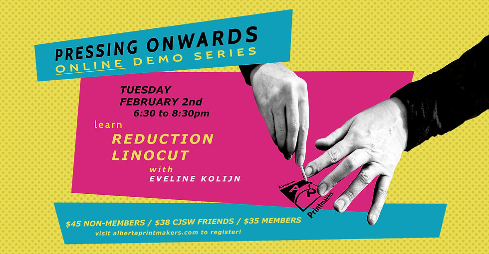 Reduction Multi-Colour Linocut - Feb. 2nd