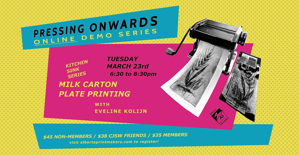 Milk Carton Plate Printing - March 23rd
