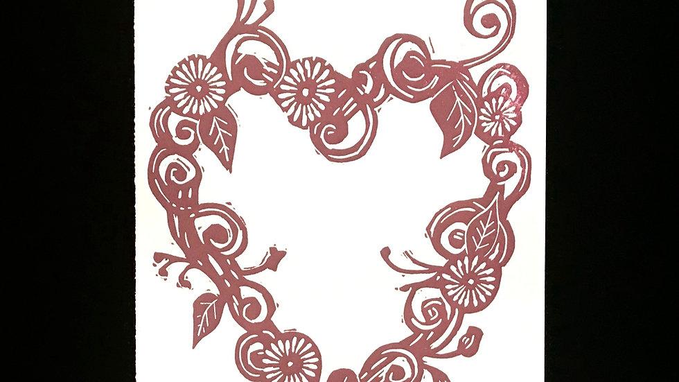 Printed Card (Heart)