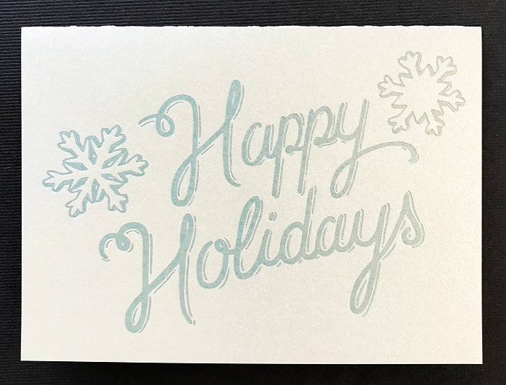 Happy Holidays (silver) Holiday Card