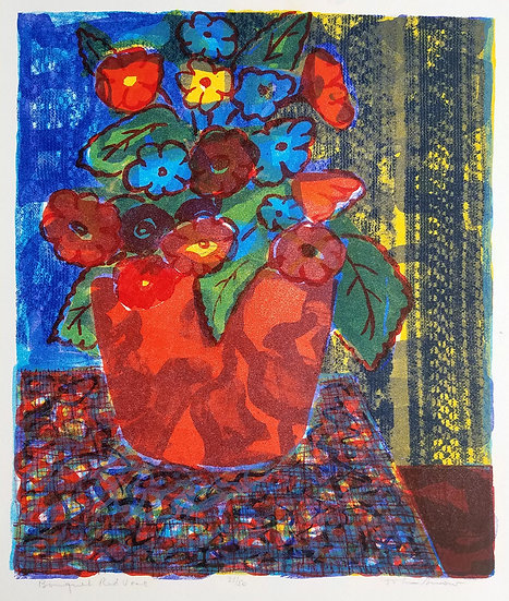 John Snow - Bouquet Red Vase