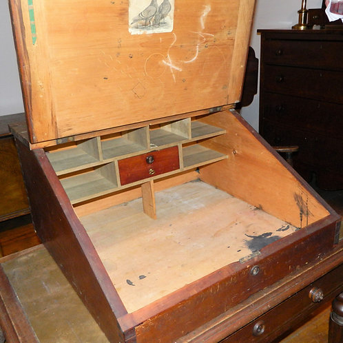 Schoolmaster's Slant Top Desk