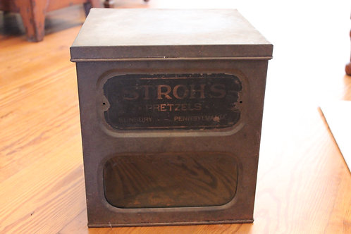 Stroh's Pretzel Tin Box