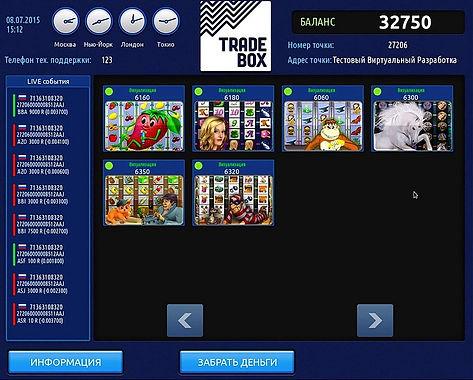 Подключение Trade Box - Трейд Бокс   Slotsoftsystems Trade Box - терминальная система
