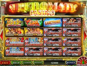 играть казино супероматик