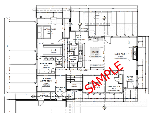 Digital Floor Plan with Dimensions - Isle Royale Home (.PDF Format)