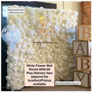 White Flowerwall