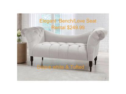Elegant Love Seat tufted