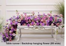 Lavander silk flower Runner