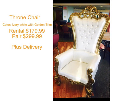 Golden Throne chair (Tall Back)