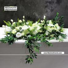 White Rose Runner/ Haning flower