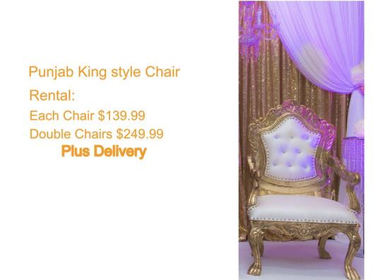 Golden Punjab Style King Chair
