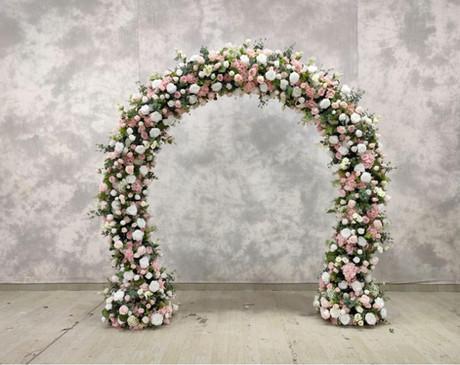 Mix Silk flower Arch (blush/White)