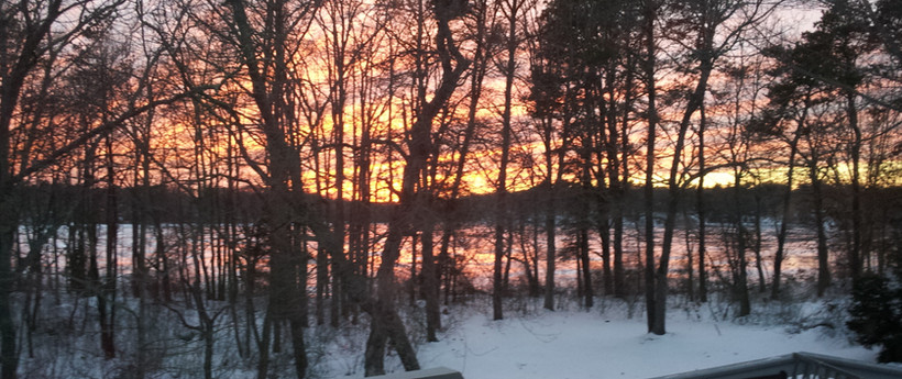 Winter Sunset on Middle Pond