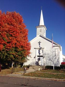 church in fall 2