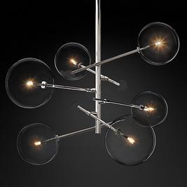 20% de descuento + meses sin intereses.  Lámpara moderna de techo ARQ-SPHERE de 6.   Incluye instalación en la ciudad de México y focos led de luz calida.