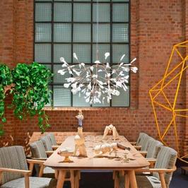 Lámpara de techo moderna scandinavian.  20% de descuento + meses sin intereses + instalación  Lámpara SCANDINAVIAN-30. Diámetro 50cm x Altura 30cm.