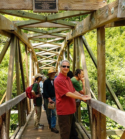 Br. Nikhilananda at the Bridge